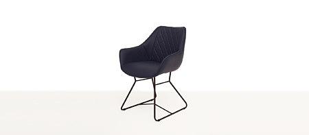 Caroline2 nowoczesne krzesło do jadalni modern granatowe pikowane