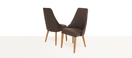 Marcelo krzesło do eleganckiej jadalni całe tapicerowane