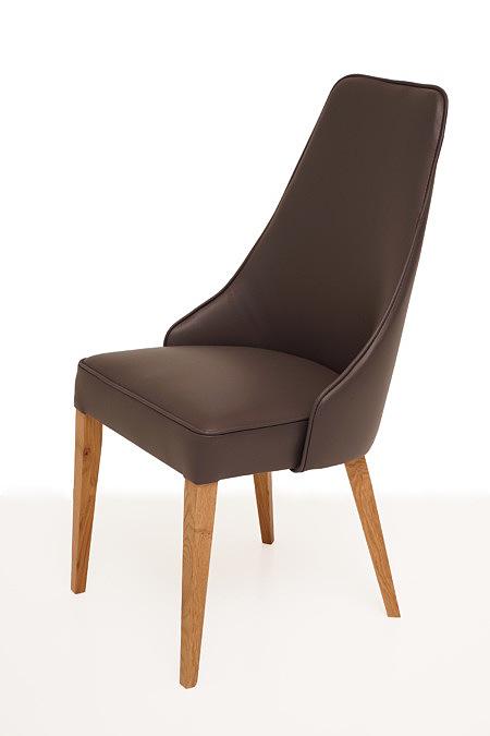 Marcelo nowoczesne eleganckie krzesło do jadalni z wyprofilowanym oparciem