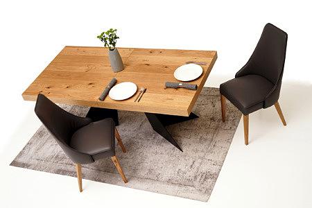 Marcelo pomysł na urządzenie jadalni stół dębowy krzesła brązowe