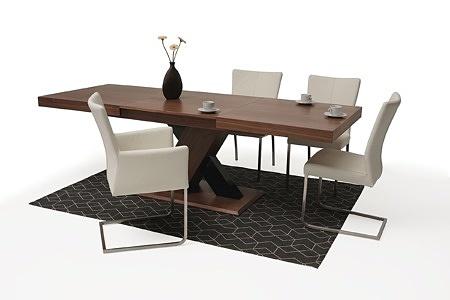 Nowoczesny stół drewniany orzech amerykański masywna noga w krztaucie X 3