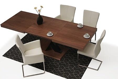 Nowoczesny stół drewniany orzech amerykański masywna noga w krztaucie X 4