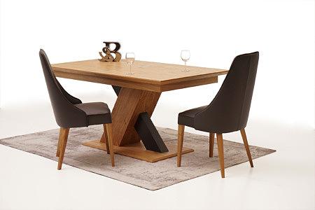Sydney inspiracja salonu stół dębowy modern z jedną nogą