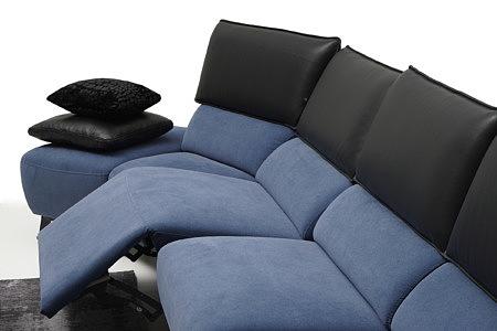 Aviva granatowy ciemno niebieski narożnik tapicerowany relax