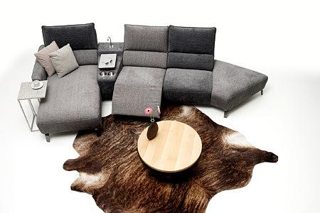 Aviva2 aranżacja pomysł szary narożnik tapicerowany w nowoczesnym salonie