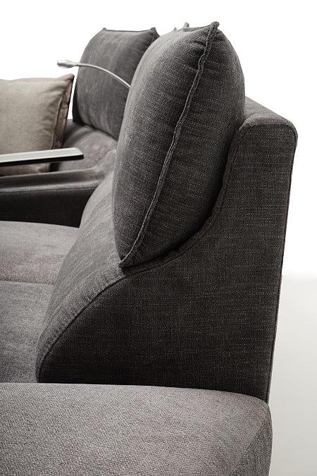 Aviva2 ciemno szare poduszki w oparciu sofy narożnika