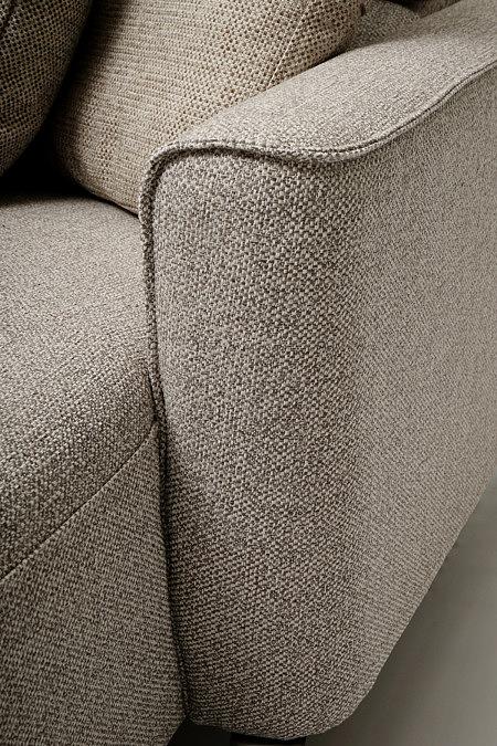 Aviva2 jasno brązowy bok sofy miękkie kształty zaokrąglone narożniki
