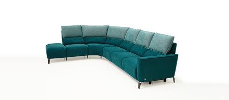 Aviva2 sofa tapicerowana kolor morski narożnik w kolorze morskim