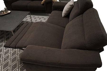Bolero2 sofa z funkcją relax elektryczny w pozycji rozłożonej