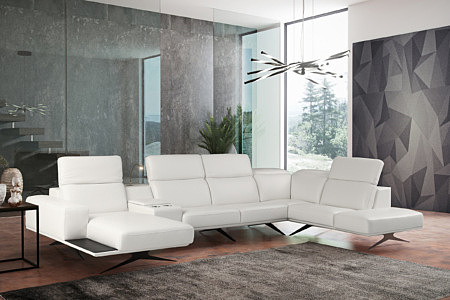 Giotto pomysł aranżacja inspiracja biały narożnik sofa w nowoczesnym salonie