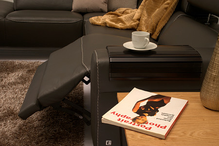 Infinity narożnik z siedziskiem wyposażonym w relax elektryczny