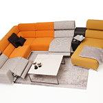Infinity nowoczesna kolorowa sofa z funkcją relax stolik spiek
