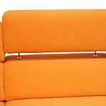 Infinity pomarańczowe oparcie z podnoszonym zagłówkiem w sofie