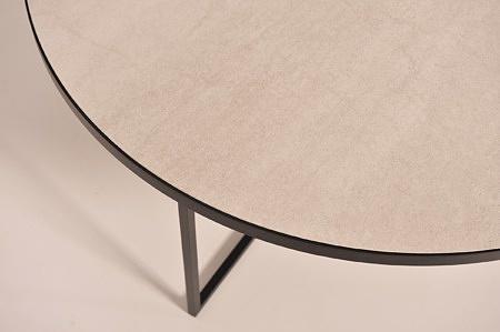 ława ze spieku kwarcowego pietra di savoia perła laminam na metalowych nogach dobrodzień
