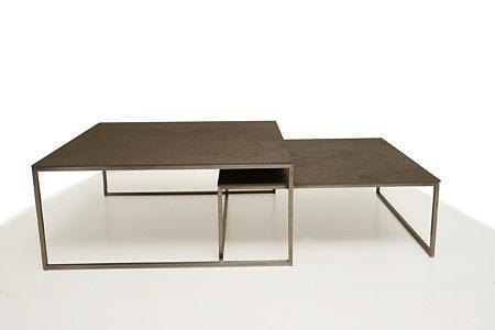 LB10 ława i stolik kawowy kwadratowy metalowy spiek kwarcowy
