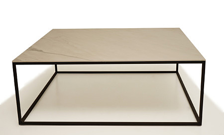 LB4 metalowy stolik industrialny blat laminat marmurowy