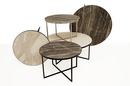 LB6 stoliki kawowe i ławy z blatem z włoskiego spieku kwarcowego