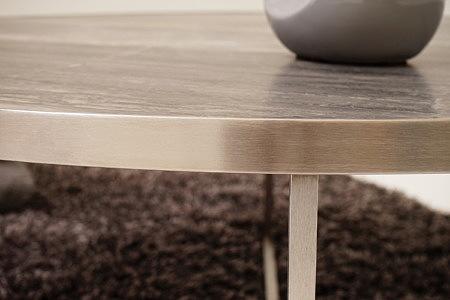 LB7 detal wykonania ławy metalowej na ramie ze stali szczotkowanej