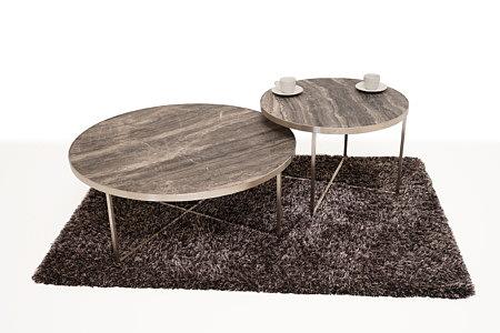 LB7 ława metalowa modernistyczna i stolik kawowy spiek