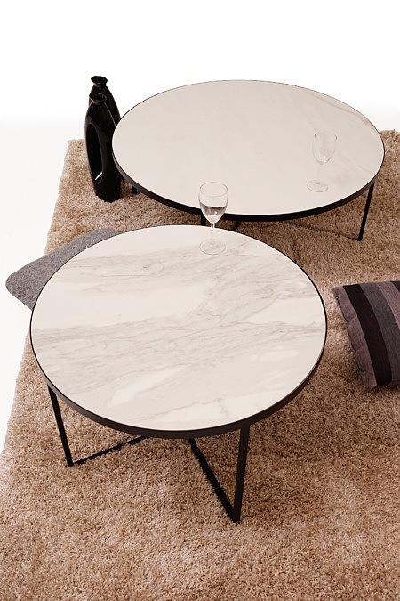 LB7 ława okrągła czarna biały blat spiej stolki kawowy inspiracja