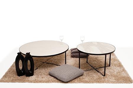 LB7 ława okrągła i stolik kawowy biały czarny inspiracja wnętrza