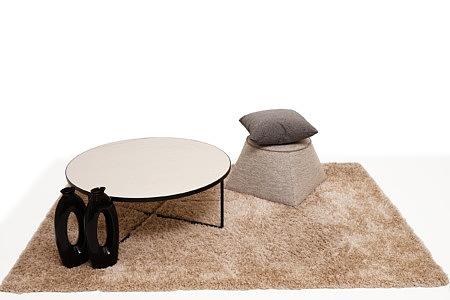 LB7 ława z białym okrągłym blatem inspiracja aranżacji wnętrza salonu