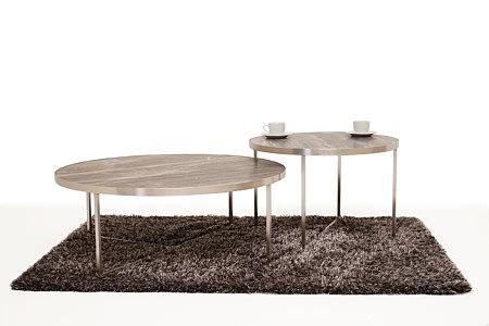 LB7 metalowe ława i stolik kawowy antracyt blat spiek marmur