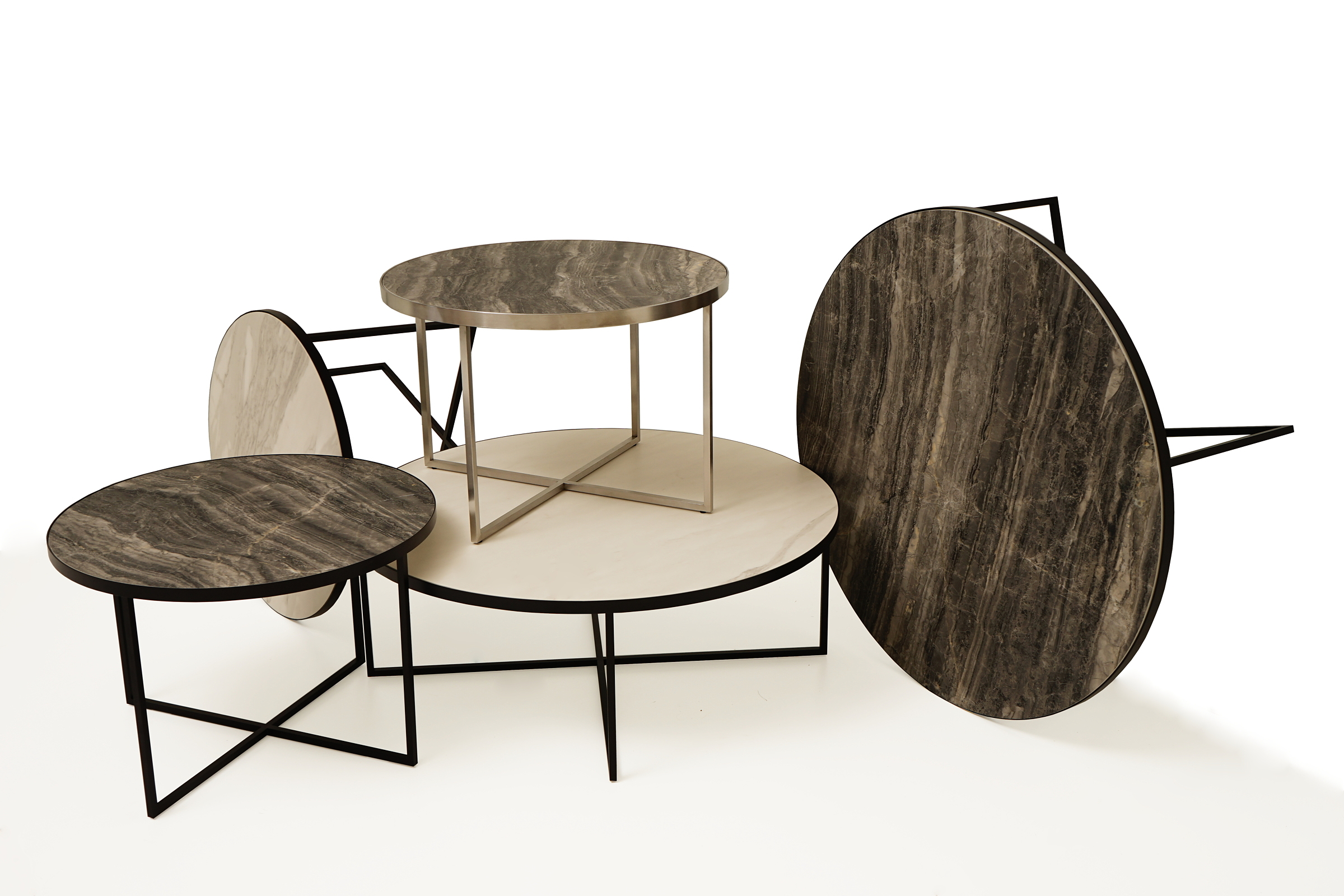 Ogromny LB7 stoliki kawowe i ławy metalowe z blatem ze spieków kwarcowych YZ57