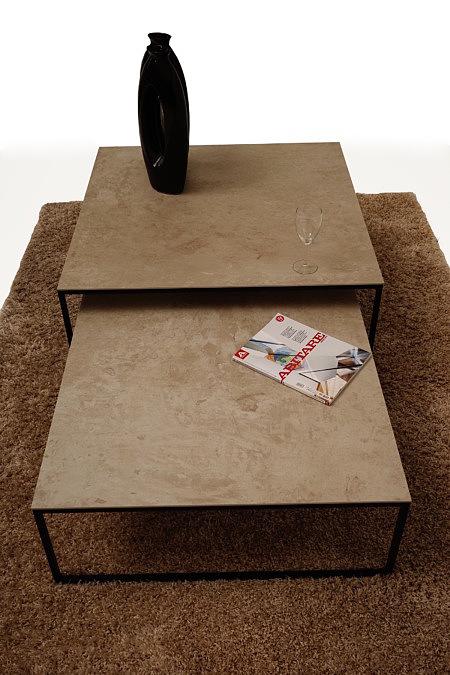 LB9 inspiracja aranżację ławy i stolika kawowego blat ze spieku