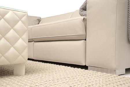 Luciano siedzisko sofy metalowe nogi ława ze szklanym blatem