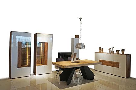 Kolekcja mebli salon Manhattan - pokój dzienny, białe meble do eleganckiego nowoczesnego salonu