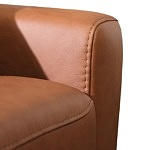 Nowoczesna wygodna sofa ze skóry z relaksem