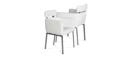Sabine nowoczesne krzesło z zagłówkiem do salonu w stylu modern