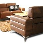 Sofa ze skóry z relaksem