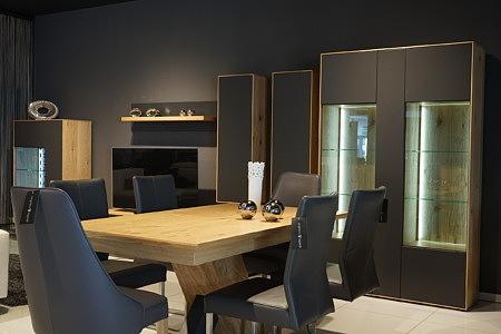 Sydney - wizualizacja aranżacja szare meble do salonu fronty bez klamek i uchwytów