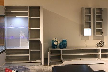 Laguna - Szare meble lakierowane nowoczesne do współczesnego salonu Laguna