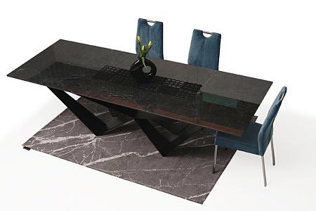 Duży stół z polerowanego spieku z metalowymi nogami05
