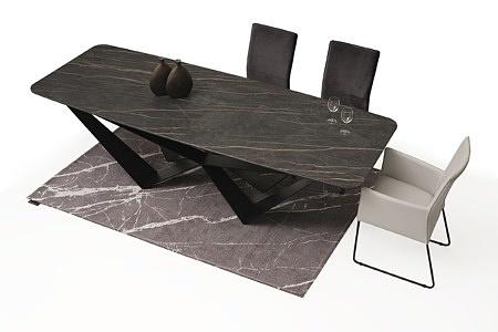 Duży stół z polerowanego spieku z metalowymi nogami07