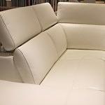 Ekskluzywny narożnik komfortowy tkanina skóra relaks 08