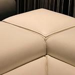 Ekskluzywny narożnik komfortowy tkanina skóra relaks 09