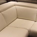 Ekskluzywny narożnik komfortowy tkanina skóra relaks 10