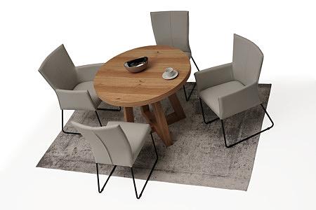 Elegancki okrągły drewniany stół roskładany