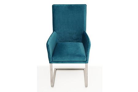 eleganckie, ładne i wygodne krzesło tapicerowane z podłokietnikami
