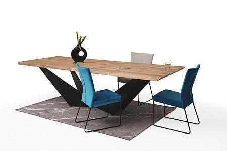 eleganckie, ładne, i wygodne tapicerowane krzesło z metalowymi płozami