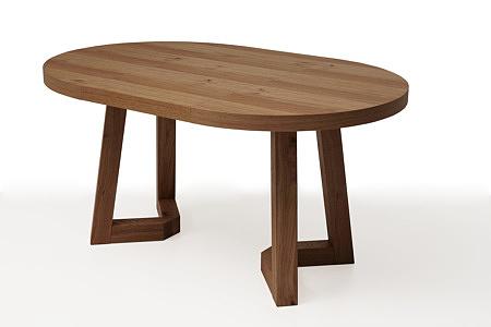 funkcjonalny okrągły drewniany stół roskładany