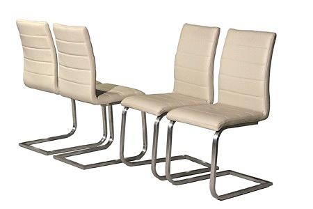 krzesła tapicerowane jasną skórą