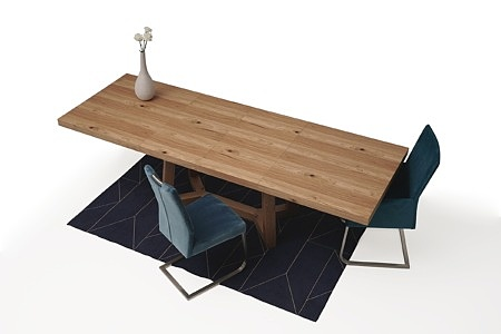 Masywny drewniany stół rozciągany06