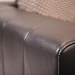 Meble na zamówienie kanapy narożnik czarna skóra różne kolory na wymiar nowoczesny design salon 1