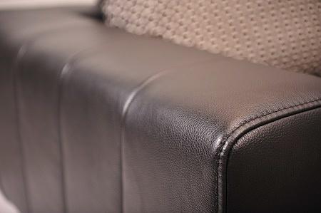 Meble na zamówienie kanapy narożnik czarna skóra różne kolory na wymiar nowoczesny design salon