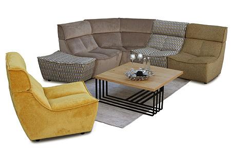 Viva - modułowy nowoczesny wypoczynek dostępny jako sofa i narożnik, poszczególne elementy zestawu można dowolnie przestawiać w każdym momencie i chwili